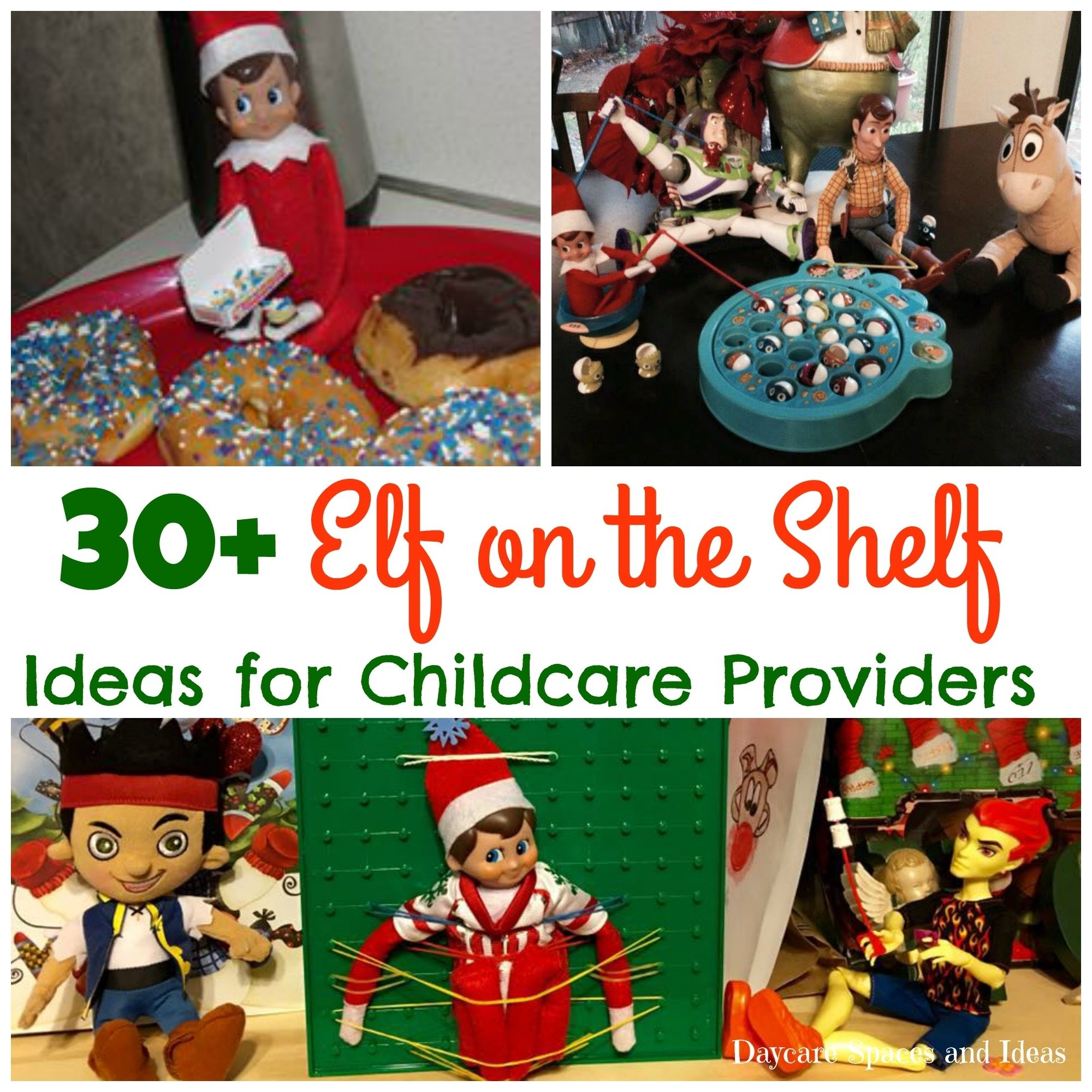 elf on the shelf ideas for childcare providers - daycare spaces and
