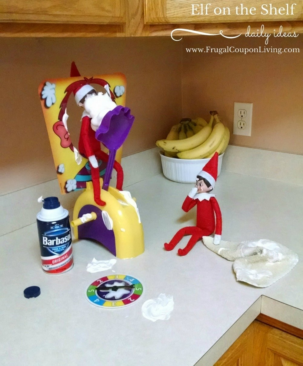 10 Pretty Ideas For Elf On A Shelf elf on the shelf ideas pie face elf 4 2021