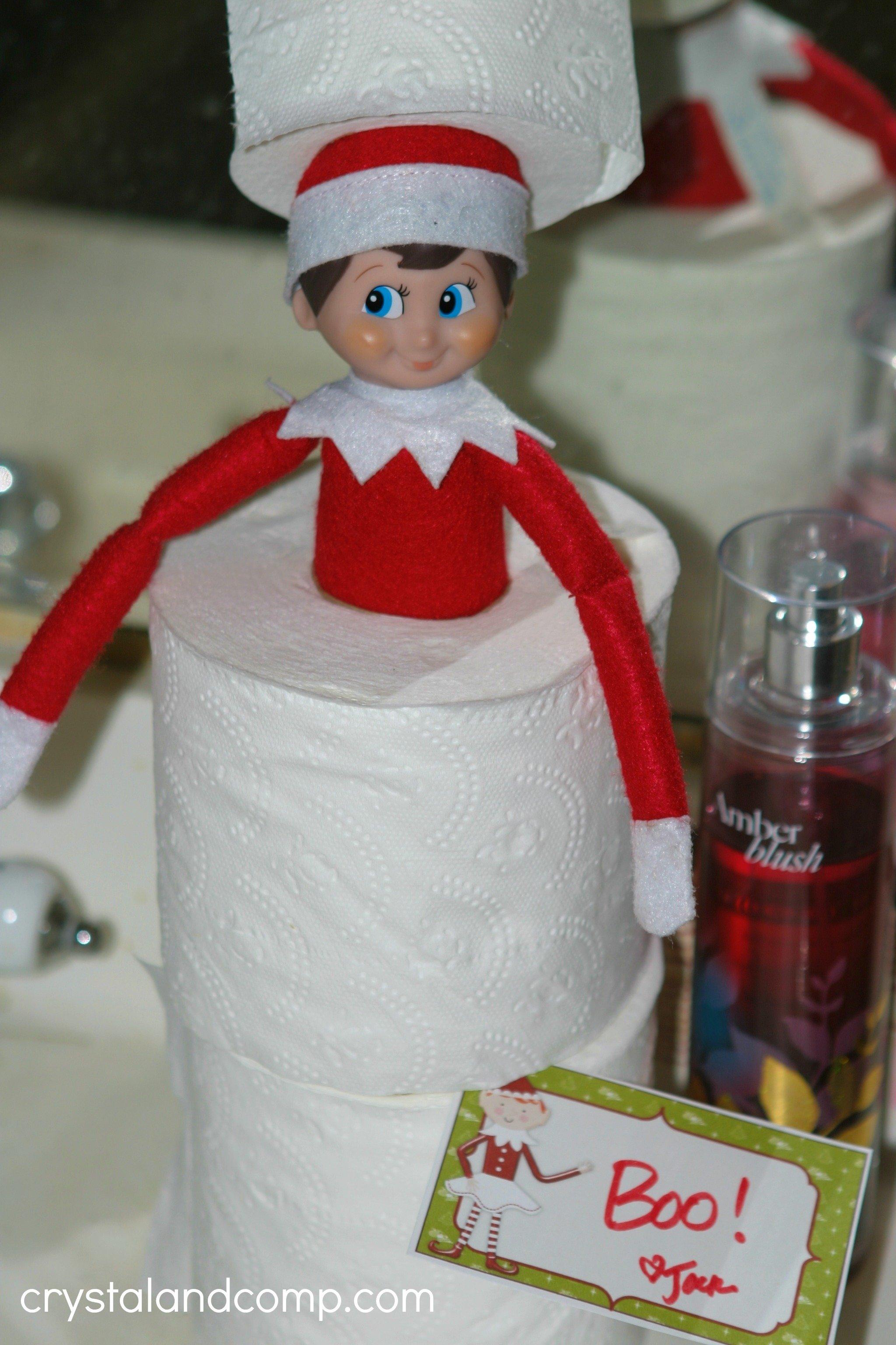 10 Stunning Ideas For Elf On Shelf elf on the shelf ideas using toilet paper 2