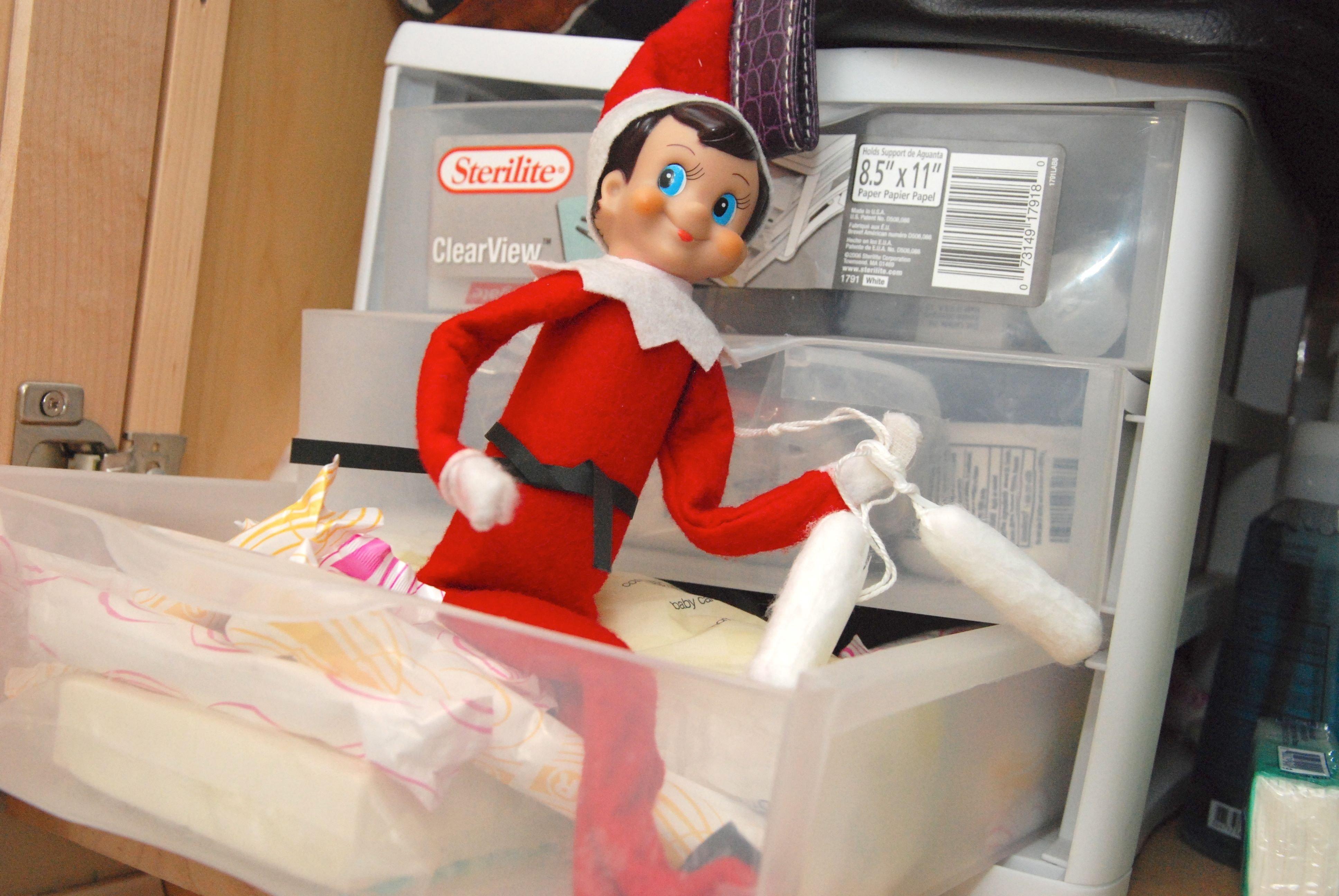 10 Stunning Bad Elf On The Shelf Ideas elf on the shelf ideas week 2 dirty diaper laundry 2 2020