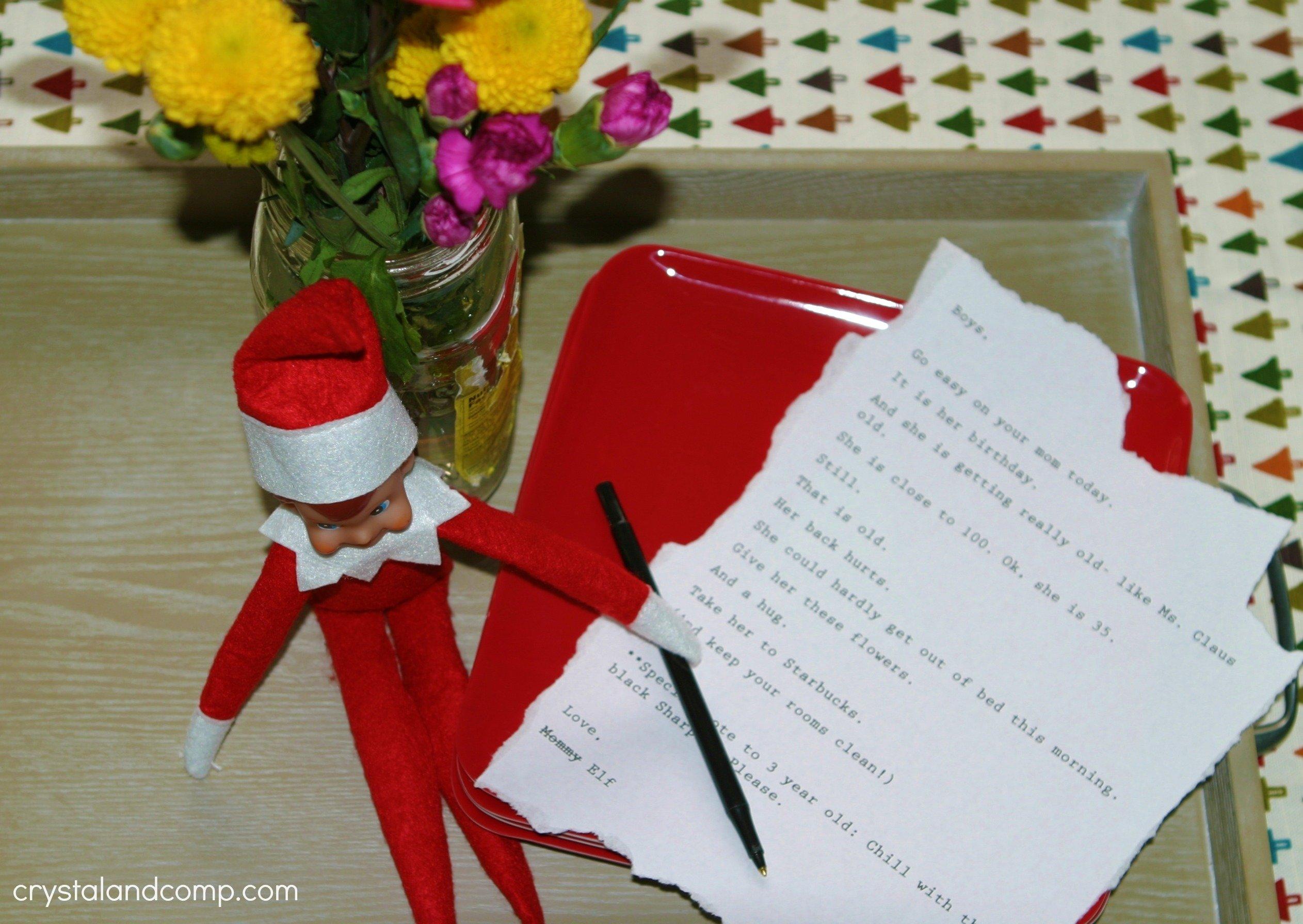 10 Best Elf On The Shelf Birthday Ideas elf on the shelf in which elf celebrates birthdays crystalandcomp 1