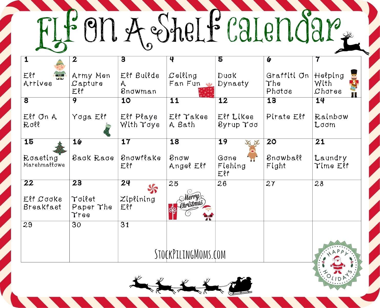 10 Stunning Letter From Elf On The Shelf Idea elf on the shelf letter printable a calendar 2 present moreover 1 2020