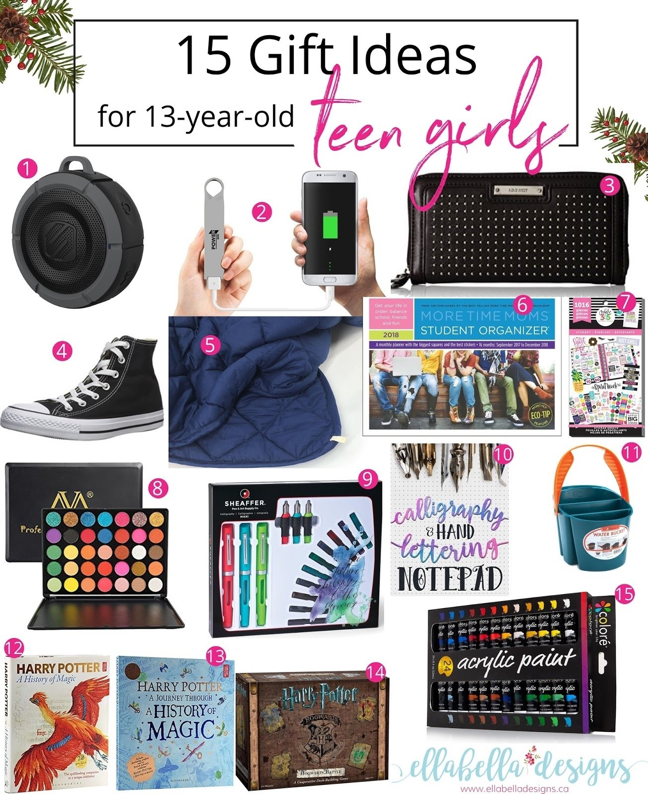 10 Ideal Gift Ideas For A 13 Year Old Girl ellabella designs 15 gift ideas for 13 year old teen girls 2 2020