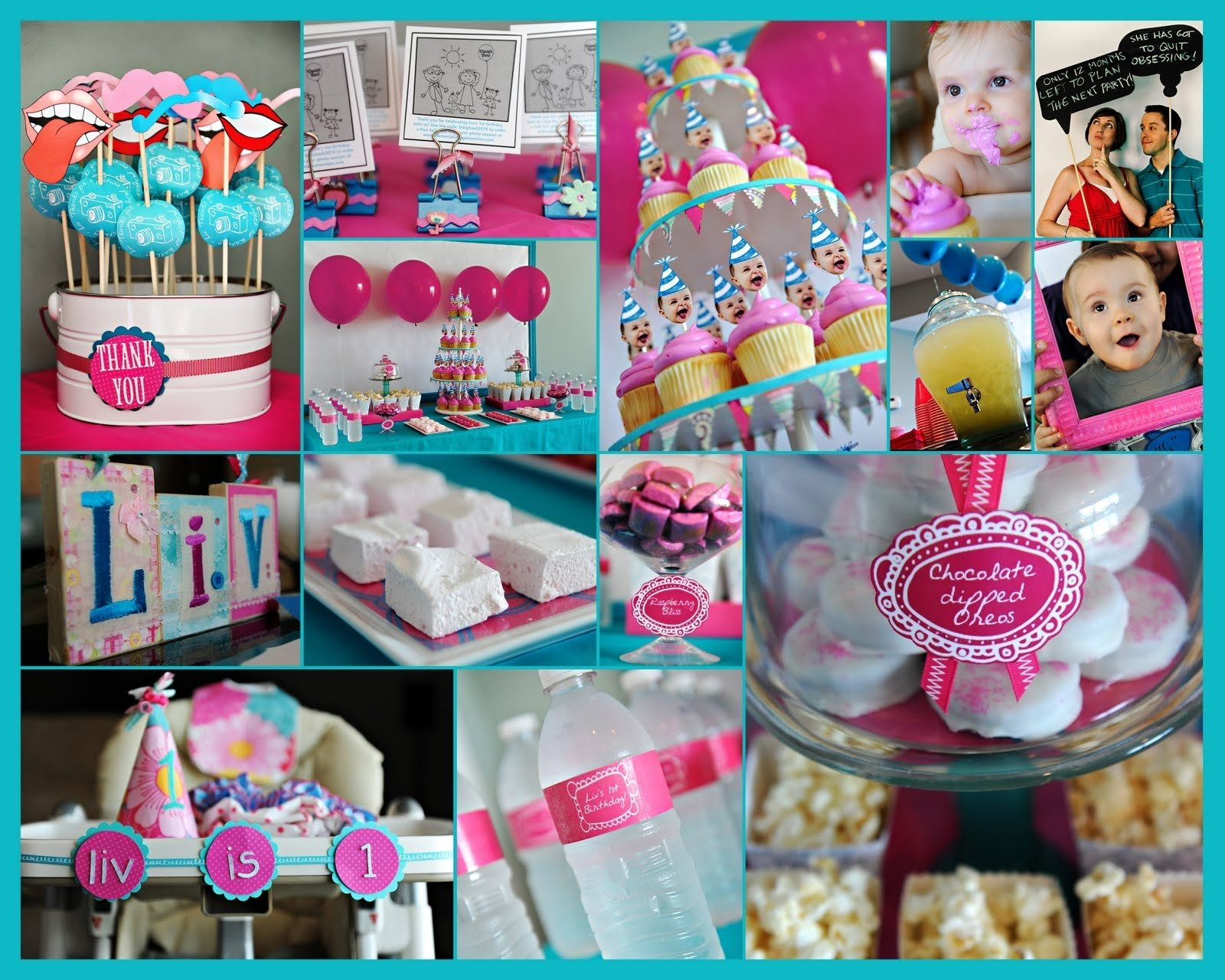 10 Best Birthday Party Ideas For 6 Year Old Girl elle belle creative one year old in a flash a first birthday party 10 2020
