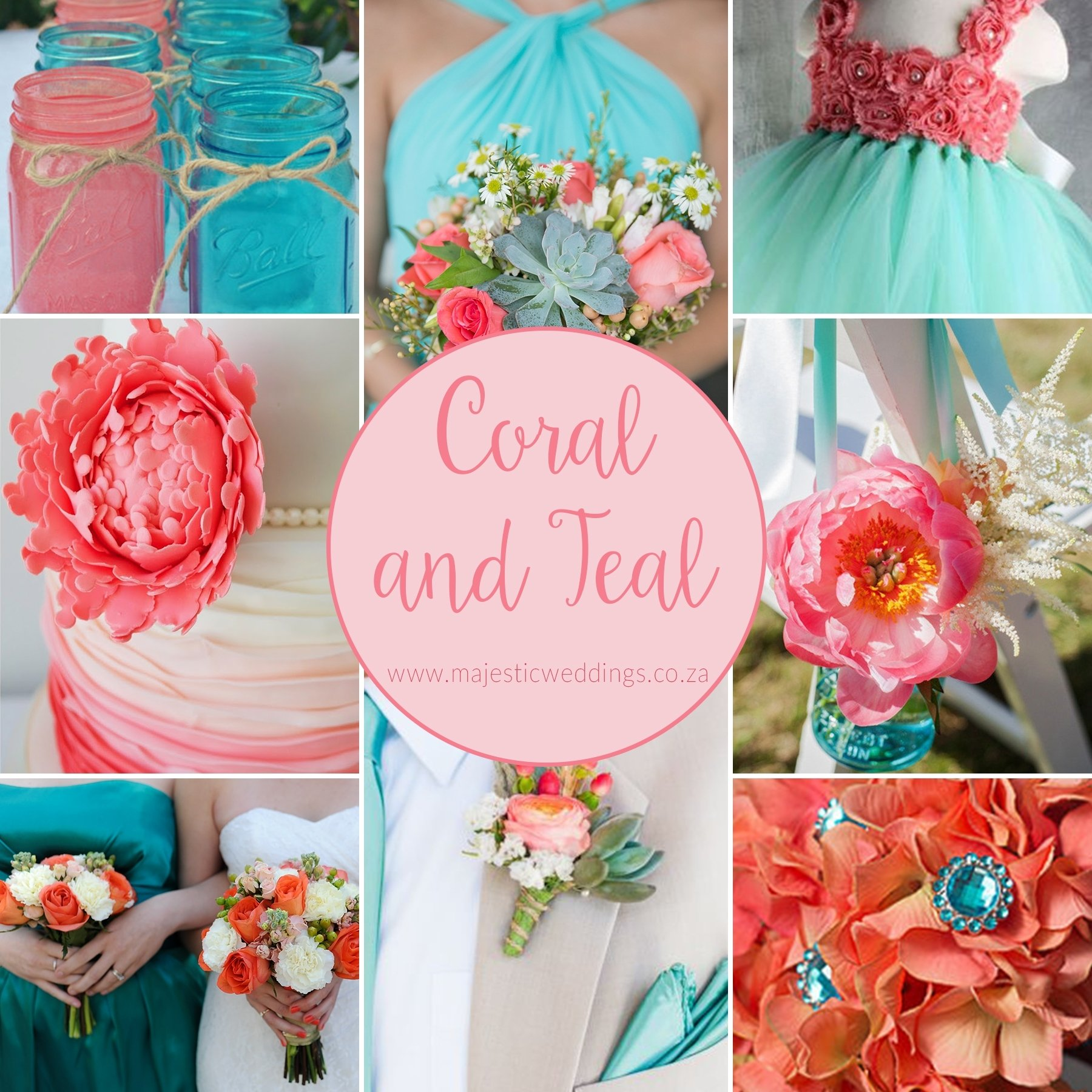 emejing coral and teal wedding ideas contemporary - styles & ideas