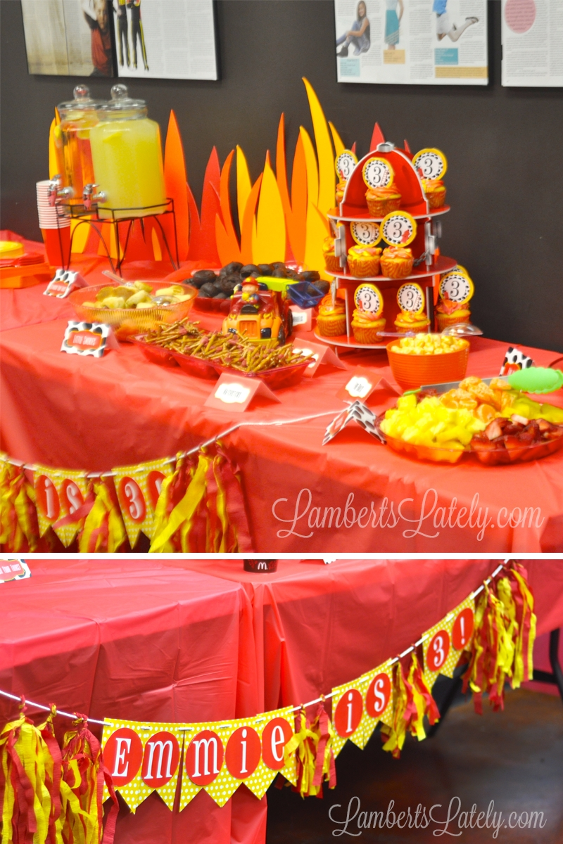 10 Awesome Fire Truck Birthday Party Ideas emma rameys firetruck 3rd birthday party birthday party menu 2020
