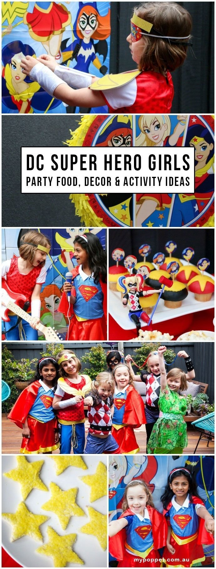 emma's 'dc super hero girls' party - fun party food, decorating