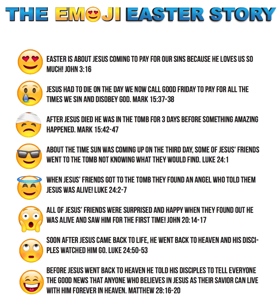 10 Beautiful Good Story Ideas For Kids emoji easter story for kids printable childrens pastor only 2021