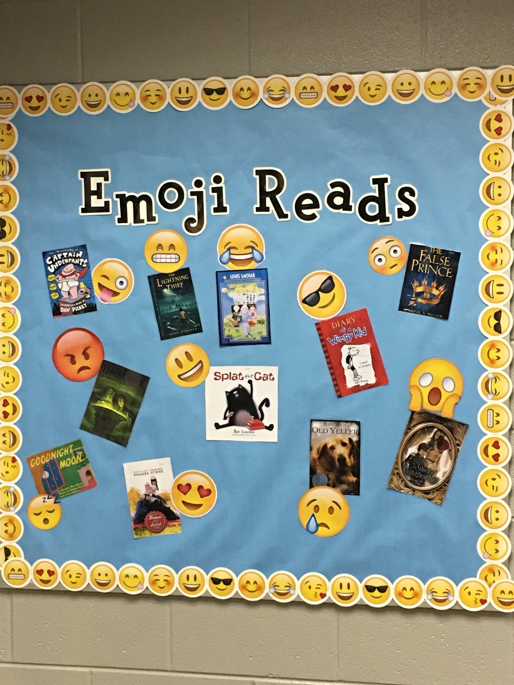 10 Elegant Fall Reading Bulletin Board Ideas emoji reading bulletin board school displays decorations 2021