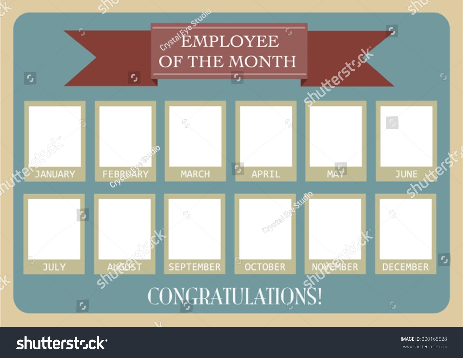 10 Awesome Employee Of The Month Ideas employee month photo calendarvector eps10 image vectorielle