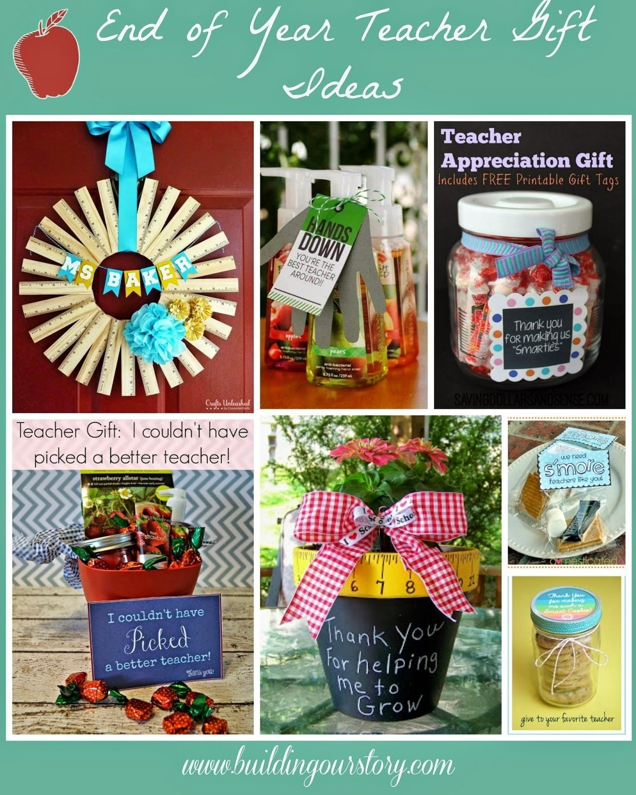 10 Pretty End Of The Year Gift Ideas For Teachers end of the year teacher gift diy ideas craft ideas teacher and