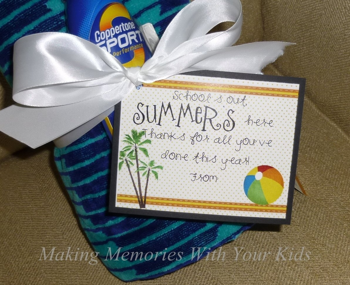 end of the year teacher gift idea - making memories with your kids