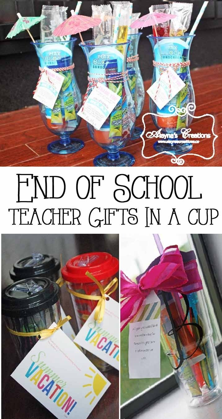10 Amazing End Of Year Teacher Gift Ideas end of the year teacher gifts in a cup diy home decor and crafts 2020