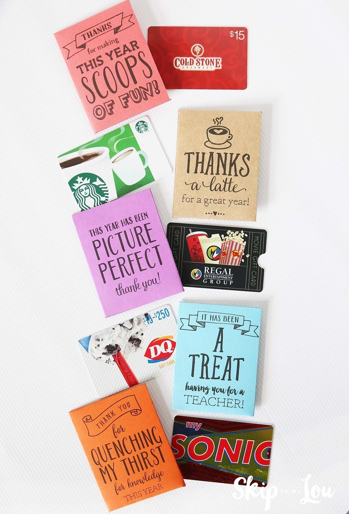 10 Elegant Gift Card Ideas For Teachers end of the year teacher gifts skip to my lou 3 2020