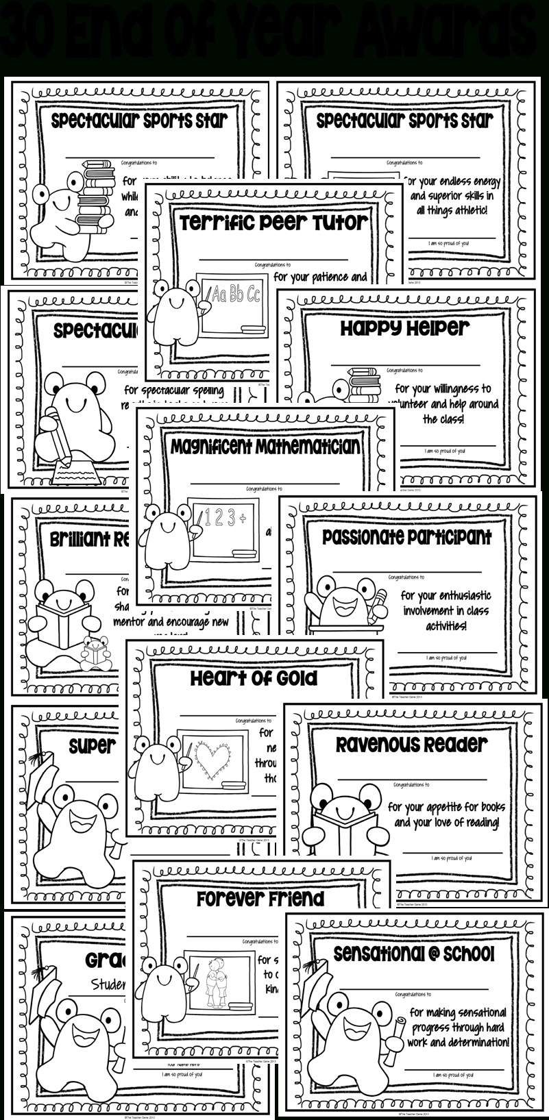 10 Beautiful Funny Award Ideas For Friends end of year awards editable certificate students and student awards 2021
