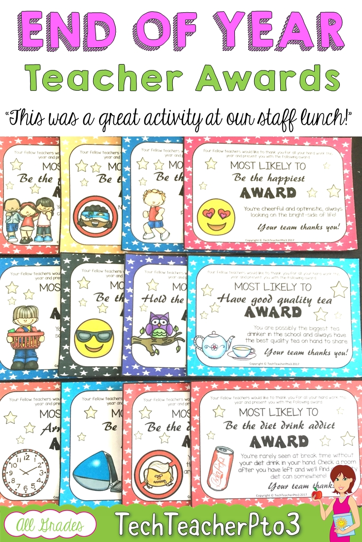 10 Attractive Most Likely To Awards Ideas end of year teacher awards gifts teacher school and preschool