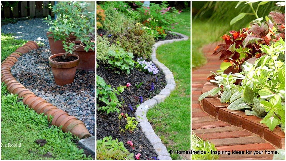 10 Lovable Cheap Flower Bed Edging Ideas endearing garden bed edging ideas 15 1 cheap anadolukardiyolderg 2021