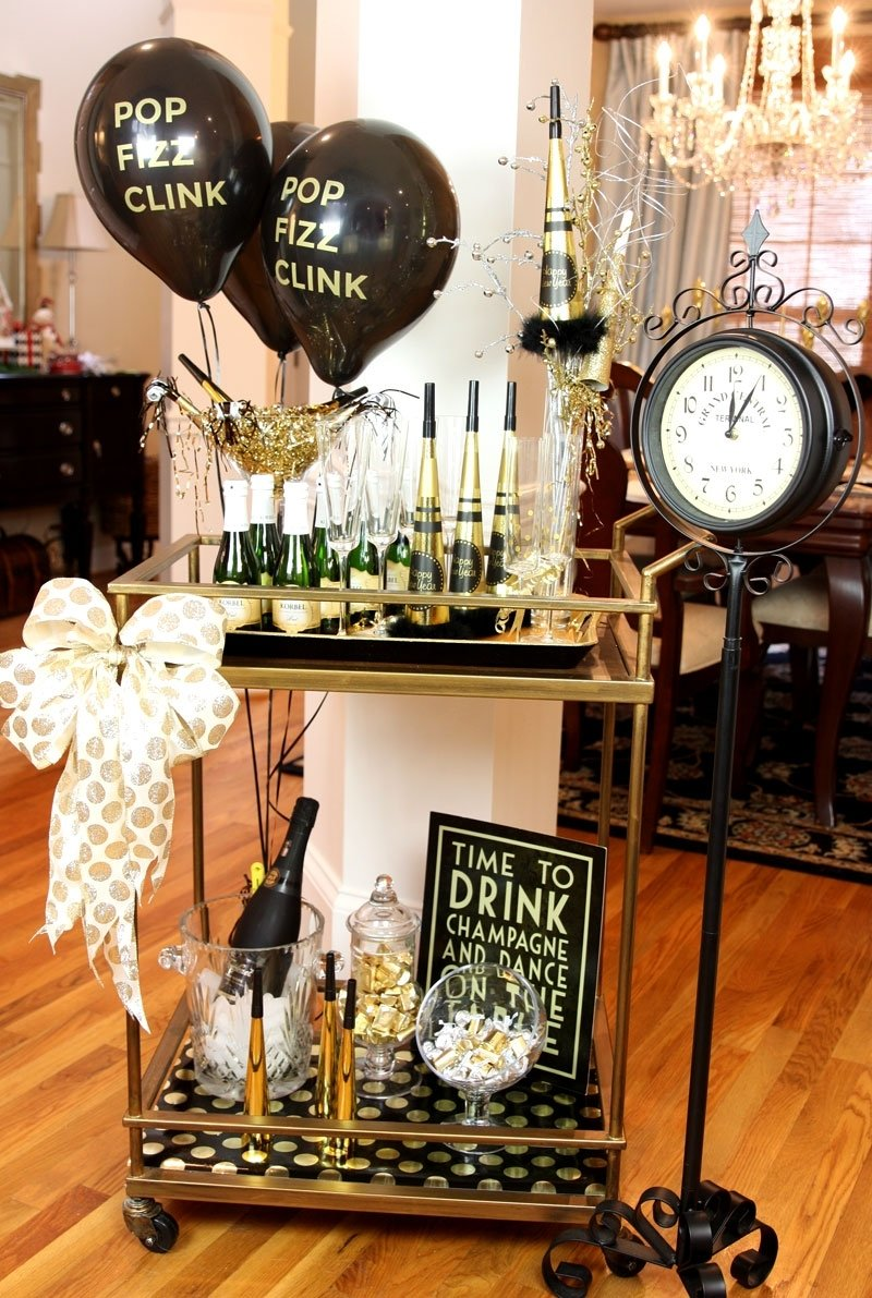 endearing new year eve party home decor showcasing graceful table