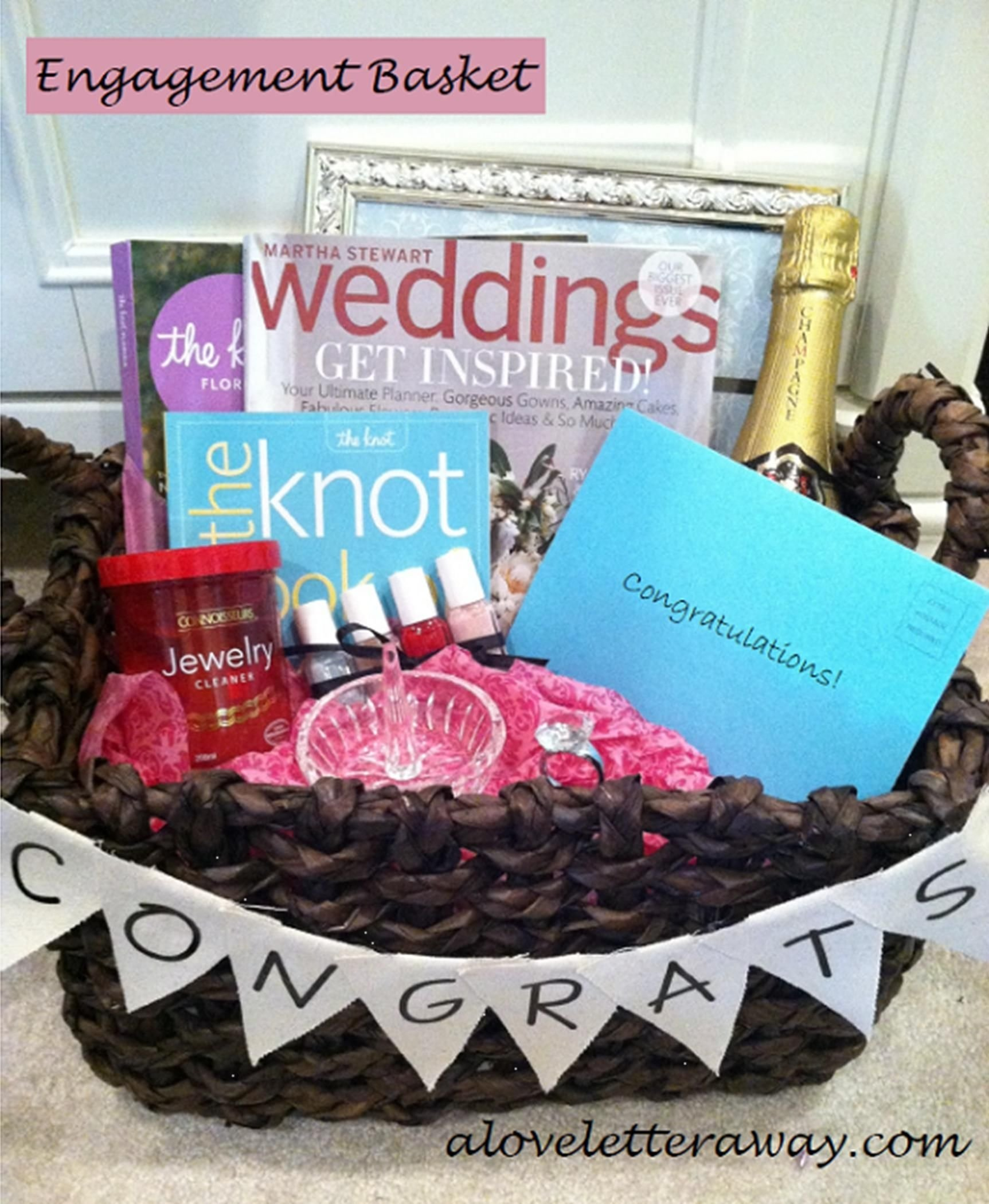 10 Awesome Fun Engagement Party Gift Ideas engagement basket cute idea for my friends who will probably be 2 2020