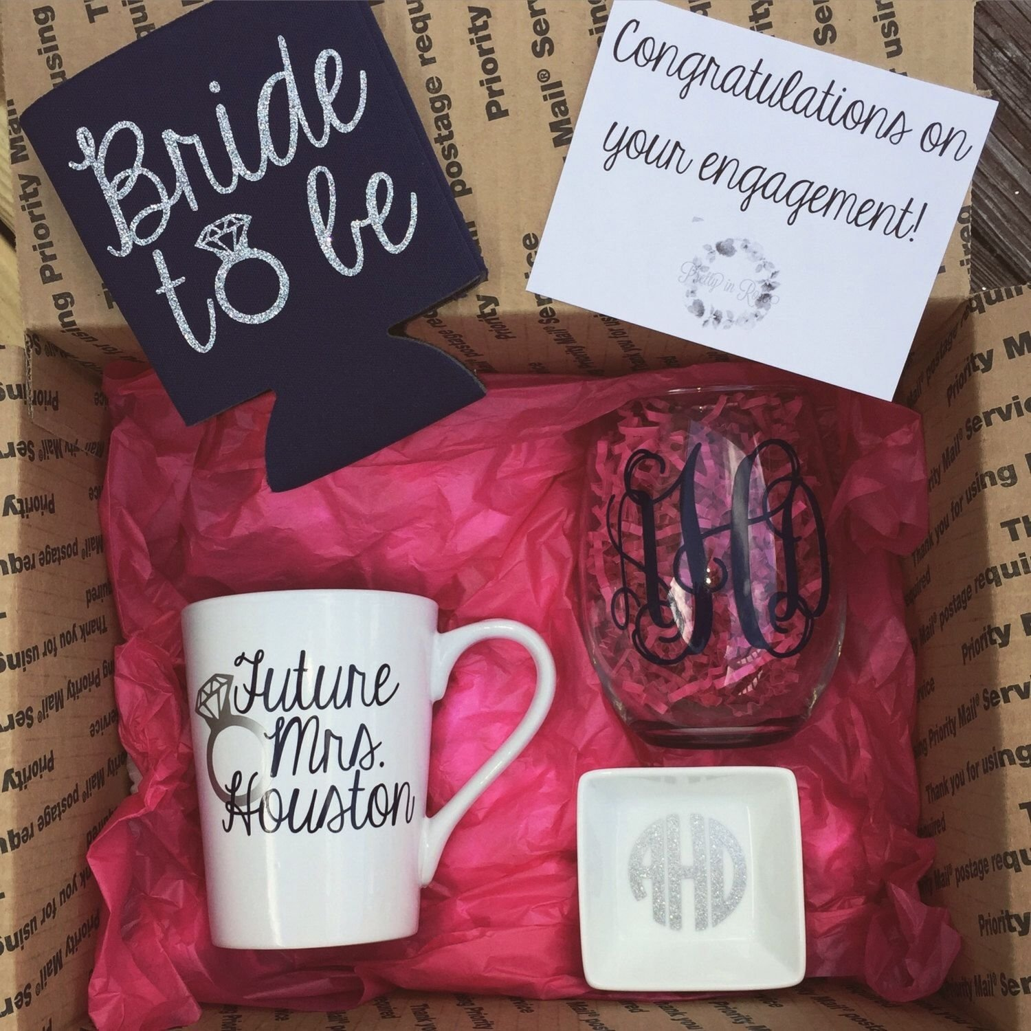 10 Most Recommended Gift Ideas For Bride To Be engagement box gift congratulations on your engagement future 2021