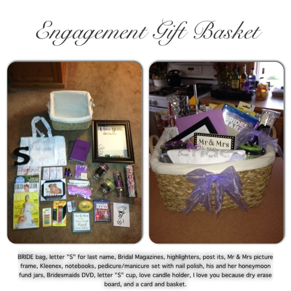 10 Great Gift Ideas For Brother In Law engagement gift basket i made for my brother and my soon to be 1