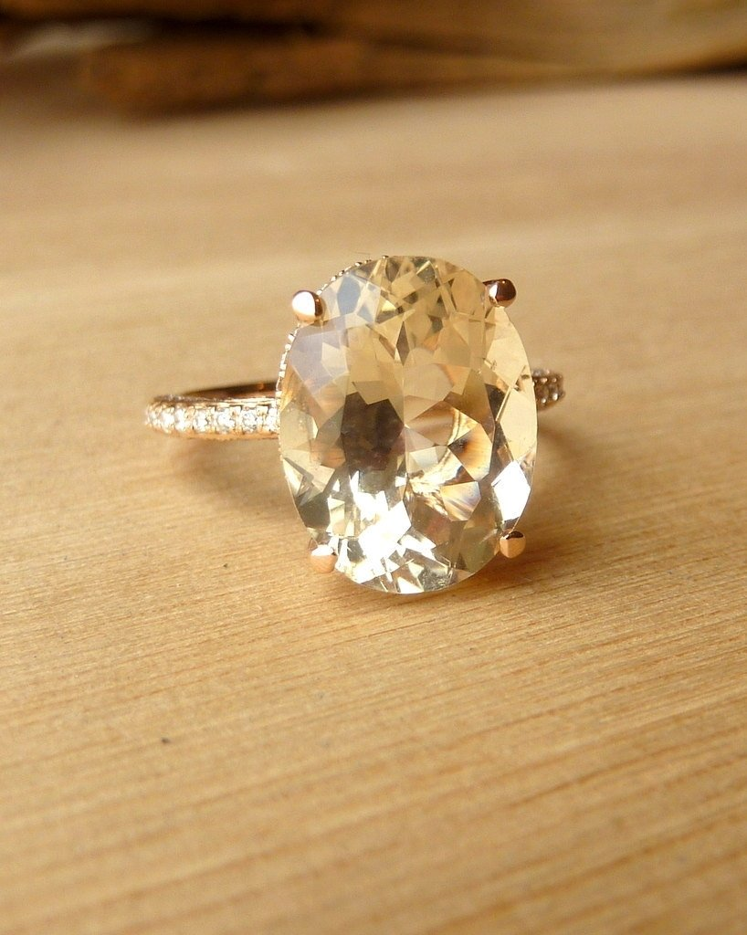 engagement ring sunstone with diamonds