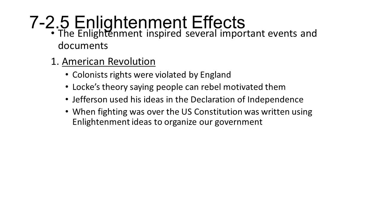 enlightenment take home notes enlightenment vocab pg reason 2.age of