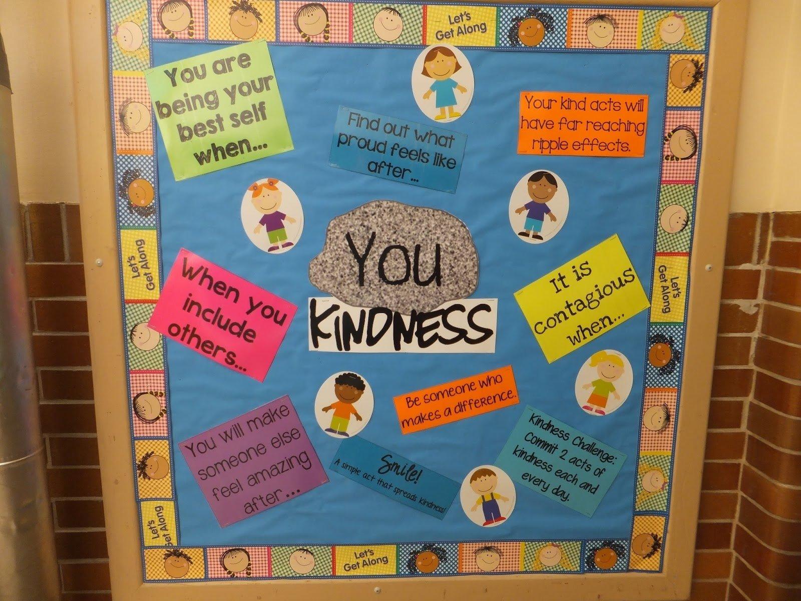 10 Fabulous Elementary School Bulletin Board Ideas entirely elementaryschool counseling you rock kindness bulletin 2020
