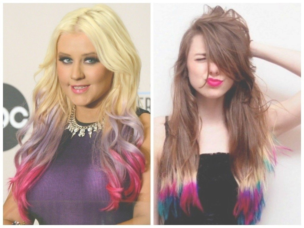 10 Perfect Funky Hair Color Ideas For Brunettes epic dip dyed hair color ideas hair world magazine with 2021