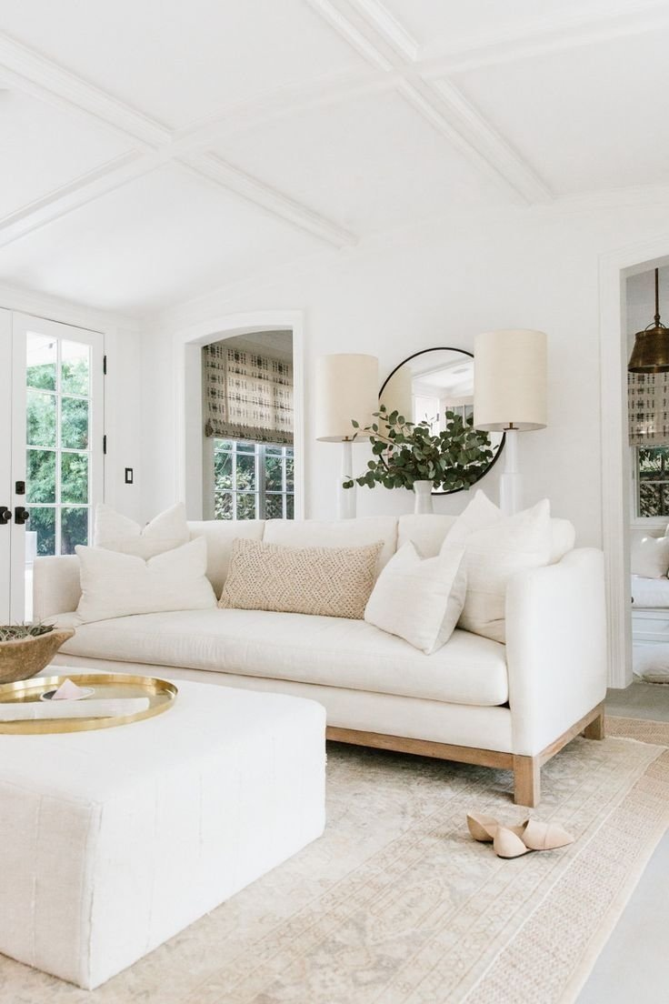 erin's feature on rip+tan | living rooms, white couches and living