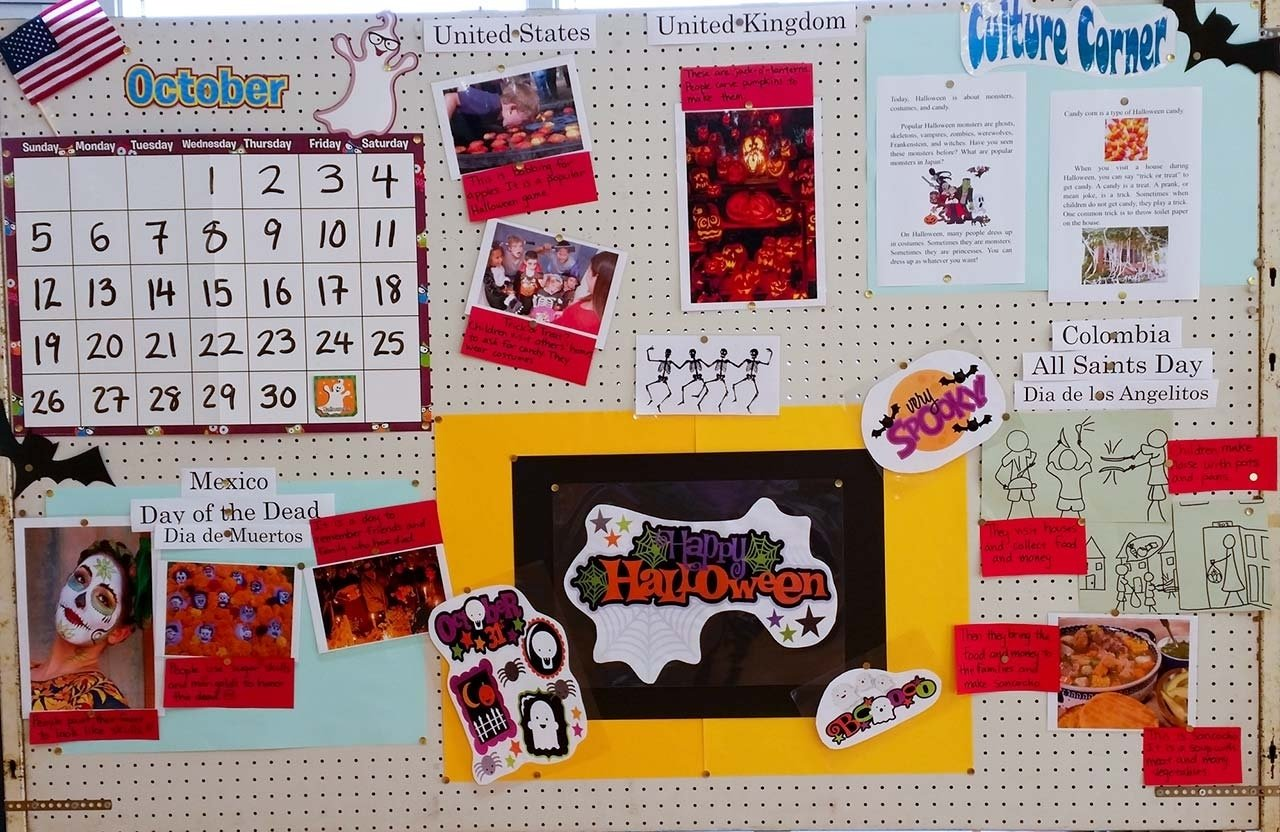 10 Pretty Halloween School Bulletin Board Ideas esl bulletin board ideas for jet program alts 2020