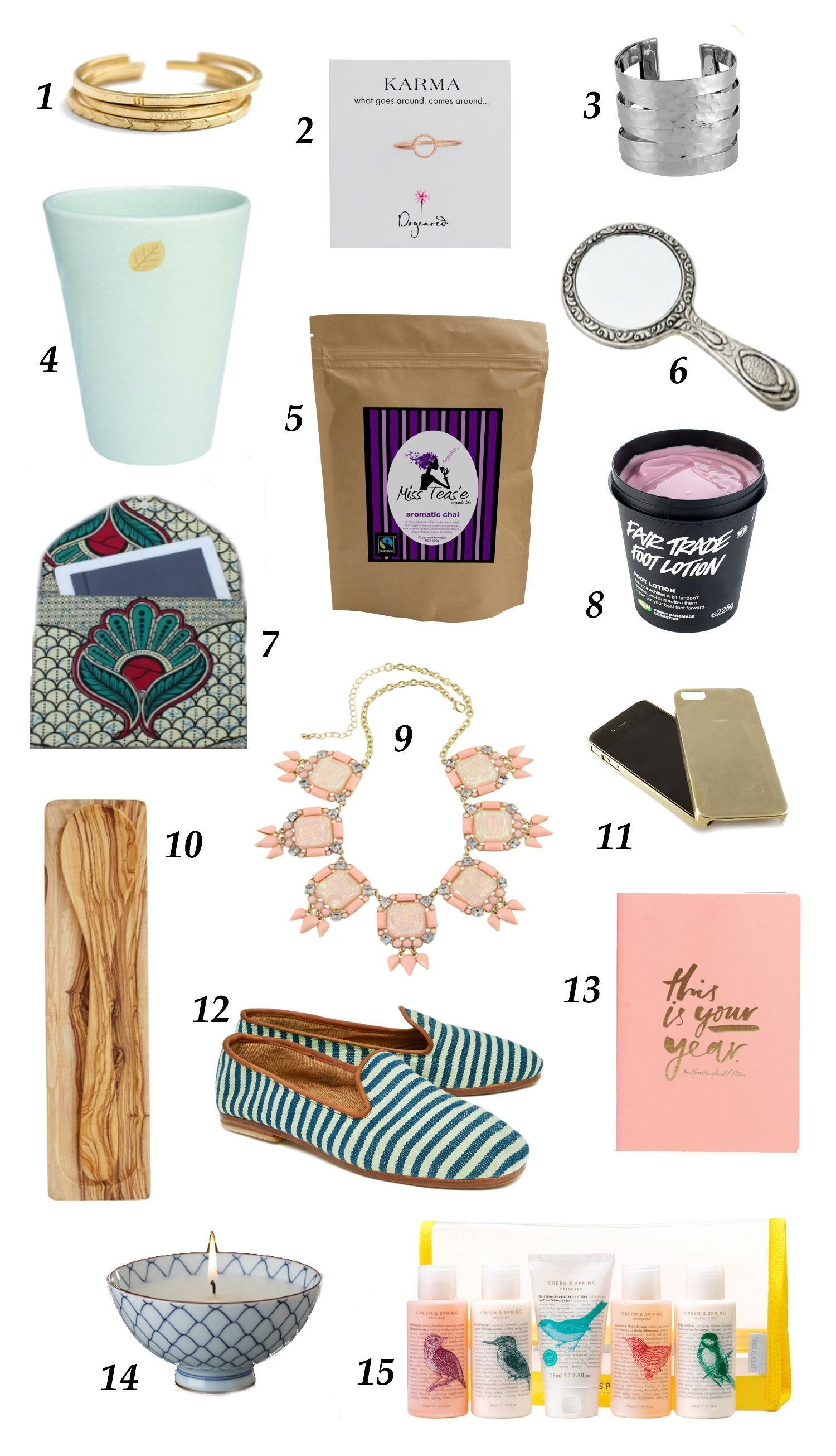 10 Beautiful Gift Ideas For A Woman ethical christmas gift ideas for women one fair day 6 2021