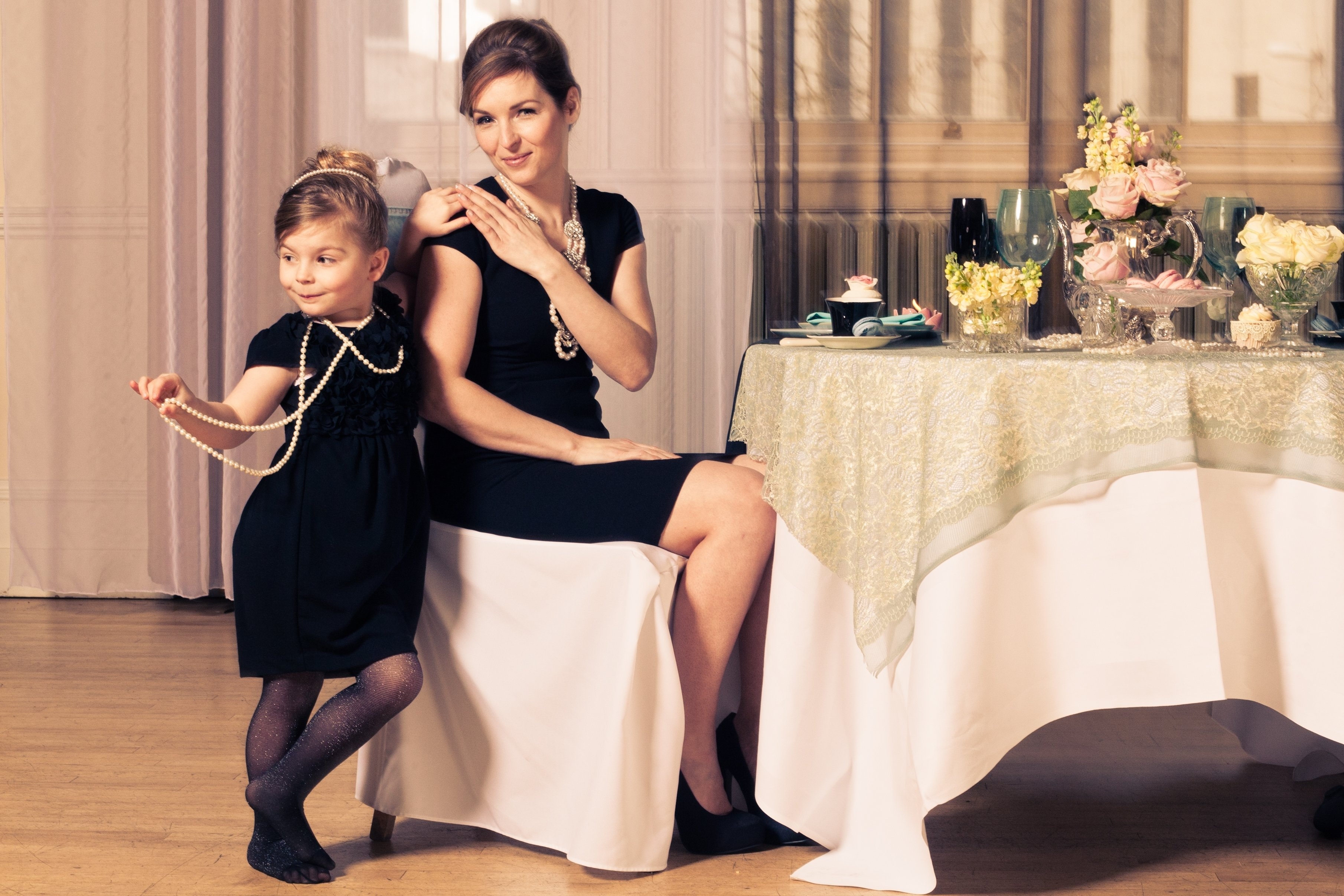 10 Spectacular Mother Daughter Photo Shoot Ideas eve lily mother and daughter breakfast at tiffanys photoshoot 2021