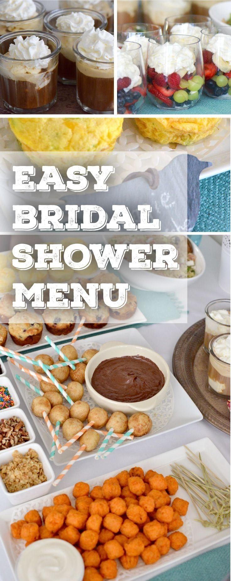 10 Lovable Bridal Shower Food Ideas Easy everything you need to plan the perfect bridal shower on a budget 1 2021