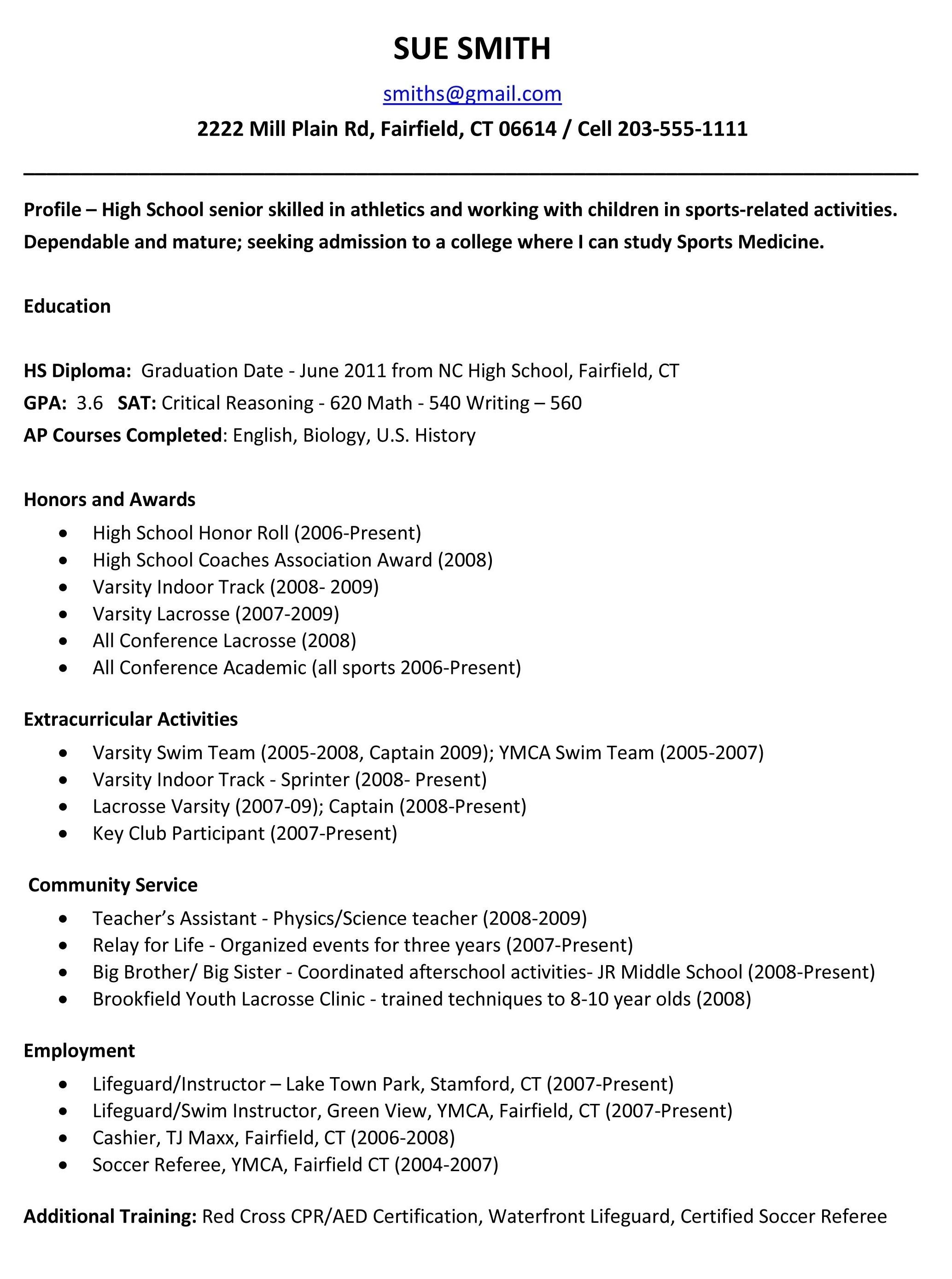 10 Stylish Community Service Ideas For Highschool Students example resume for high school students for college applications 2020