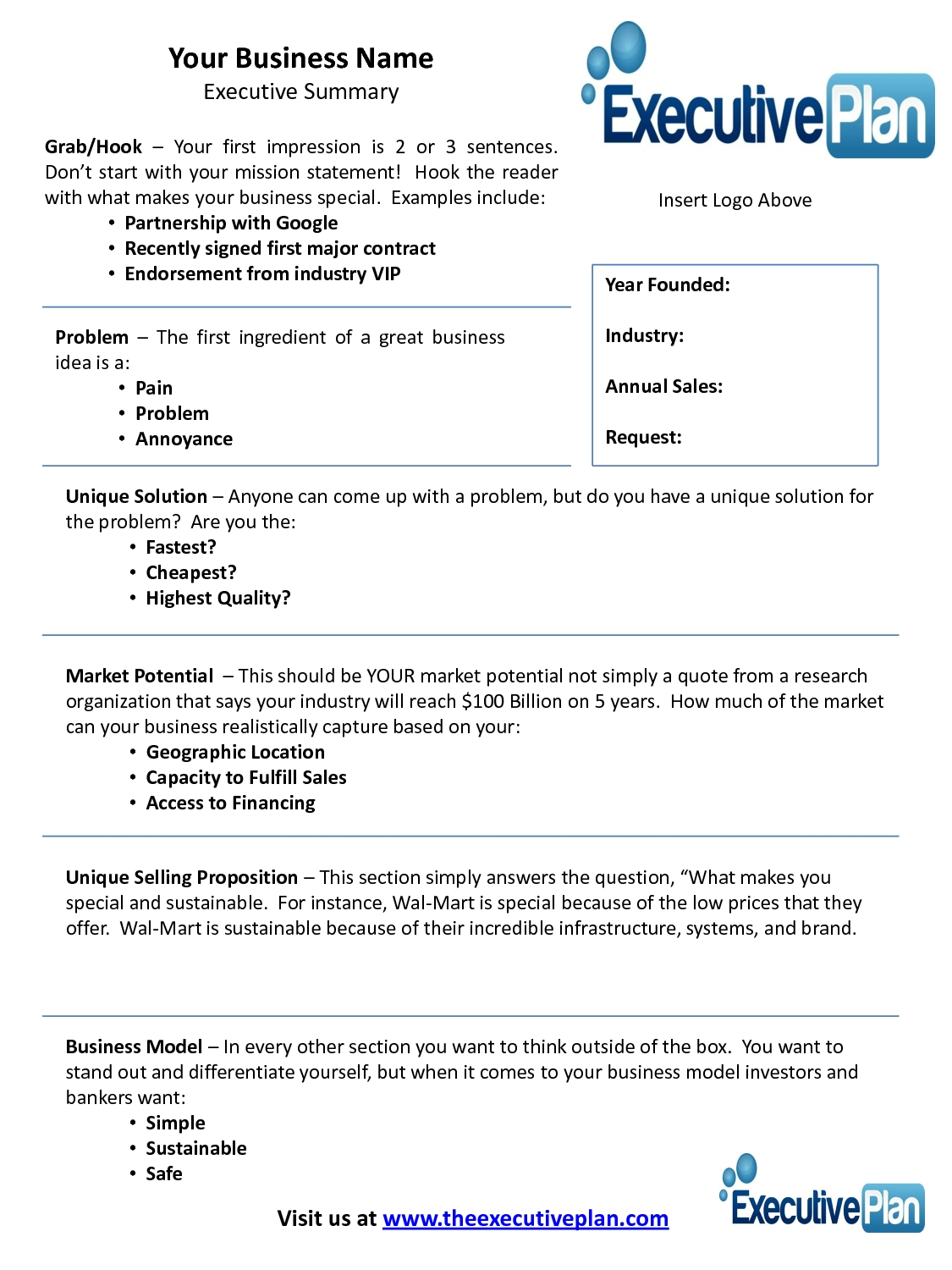 10 Unique A Great Business Idea Is examples of an executive summary executive summary template for 2020