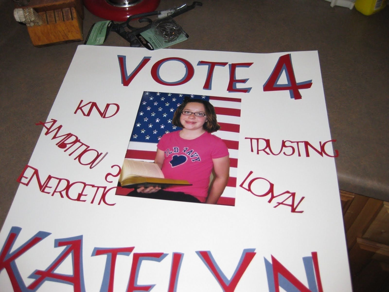 examples of campaign posters elementary school | growing boys