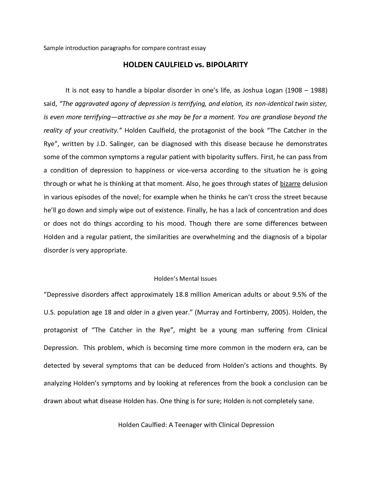 10 Best Ideas For Compare And Contrast Essay examples of compare and contrast essays example compare contrast 2020