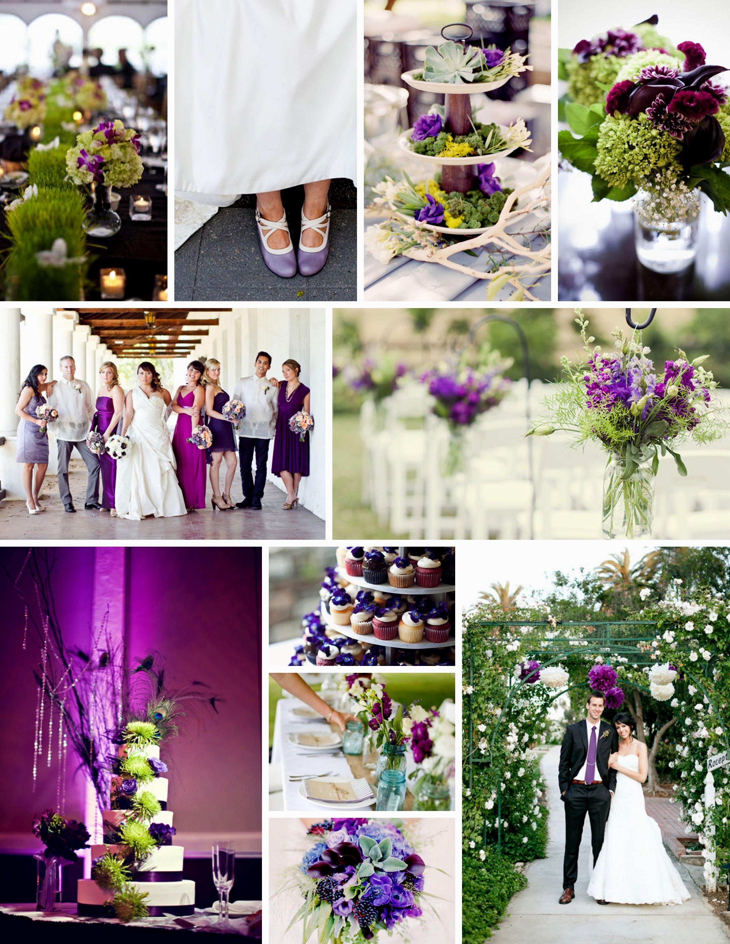 Imgenes De Purple And Green Wedding Party