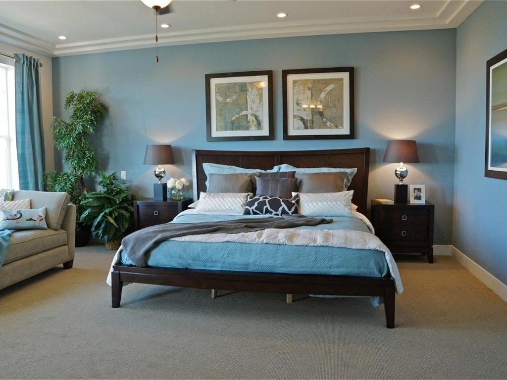 10 Perfect Grey And Blue Bedroom Ideas exciting blue traditional bedrooms decor ideas feat black wooden bed 2021