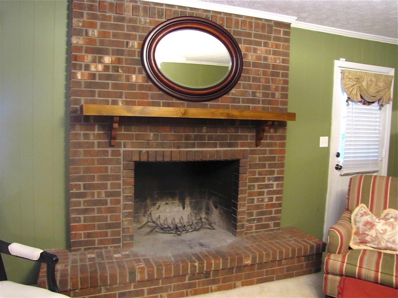 10 Unique Mantel Ideas For Brick Fireplace exciting red brick fireplace mantel decorating ideas images 2020