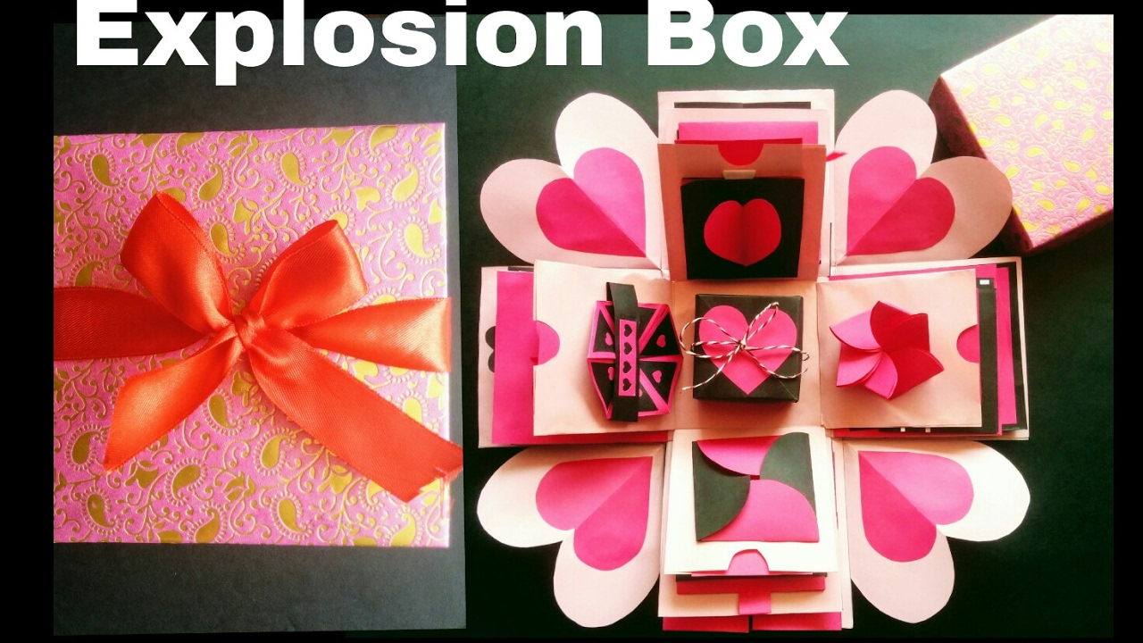 10 Trendy Out Of The Box Valentines Day Ideas explosion box diy valentines day anniversary gift idea 2021