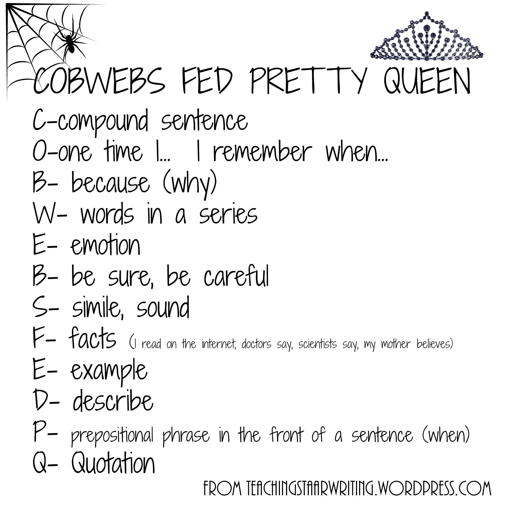 10 Best Writing Ideas For 4Th Grade expository checklist cobwebs fed pretty queen writing ideas 2020