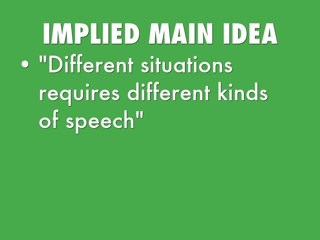 10 Ideal What Is An Implied Main Idea expository skillsblake tobey 2020