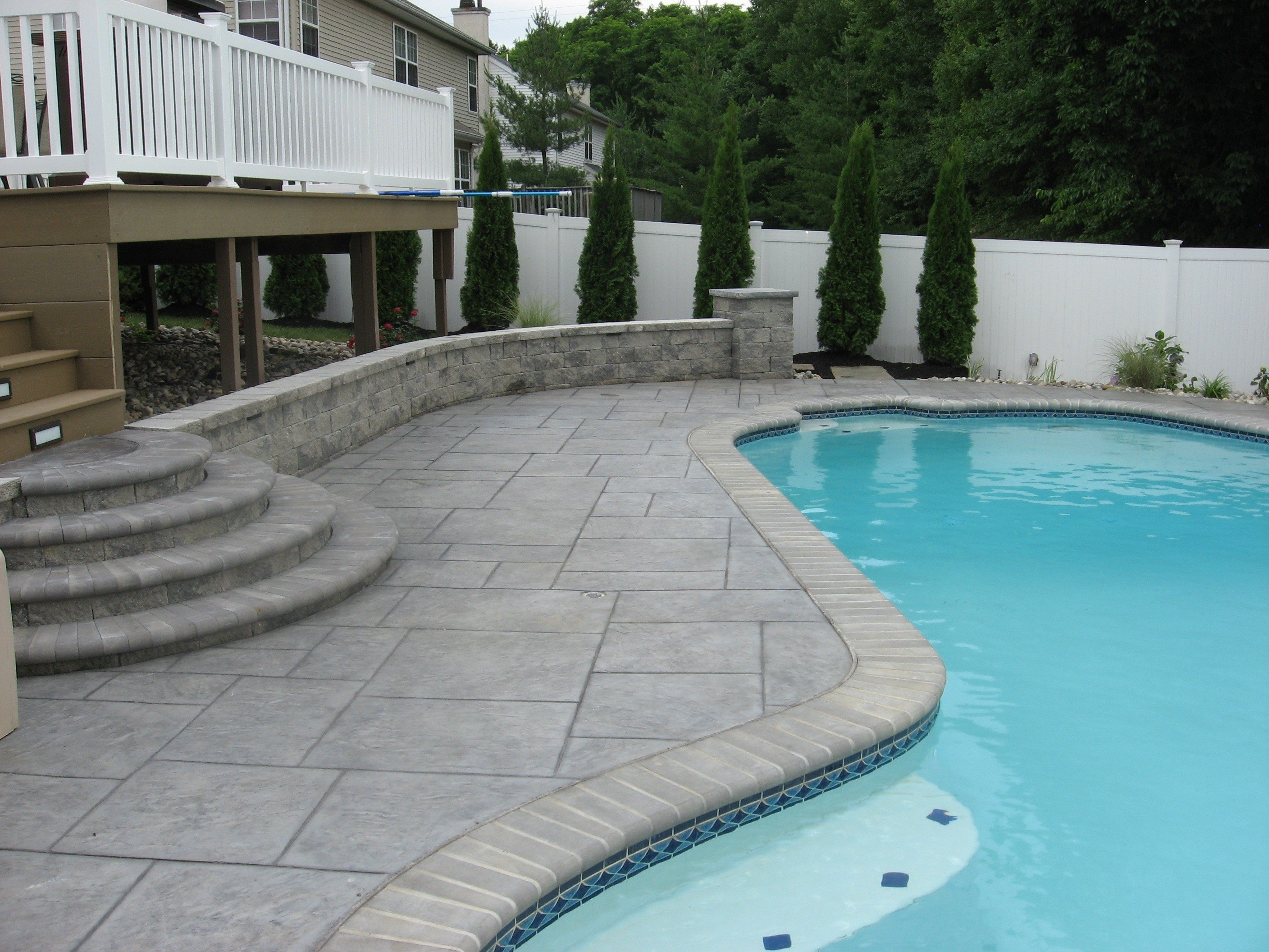 10 Elegant Pool Deck Ideas For Inground Pools exterior awesome pool deck design ideas above ground engaging fit 2021