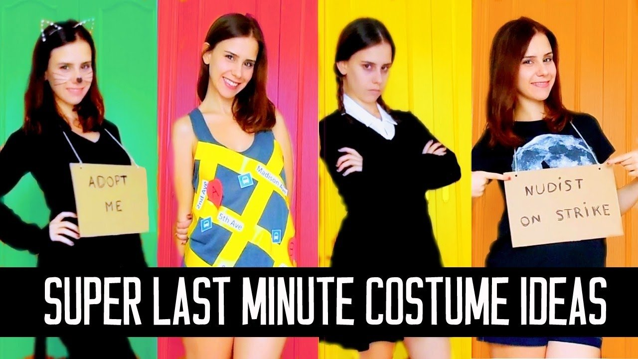 10 Unique Last Minute Costume Ideas Adults extremely last minute diy halloween costume ideas easyfast youtube  sc 1 st  Unique Ideas 2018 : last minute womens halloween costumes  - Germanpascual.Com