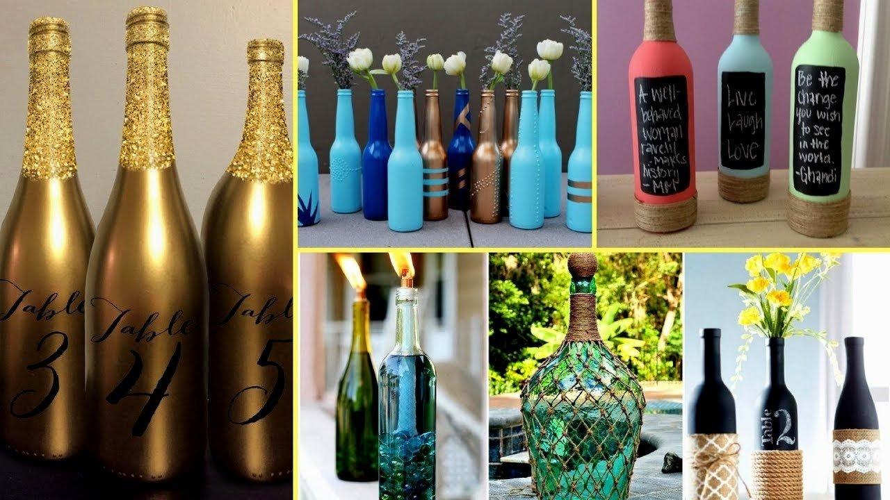10 Most Popular Craft Ideas For Wine Bottles f09f8dbc30 beautiful wine bottle decorating ideas diy recycled room 1 2020