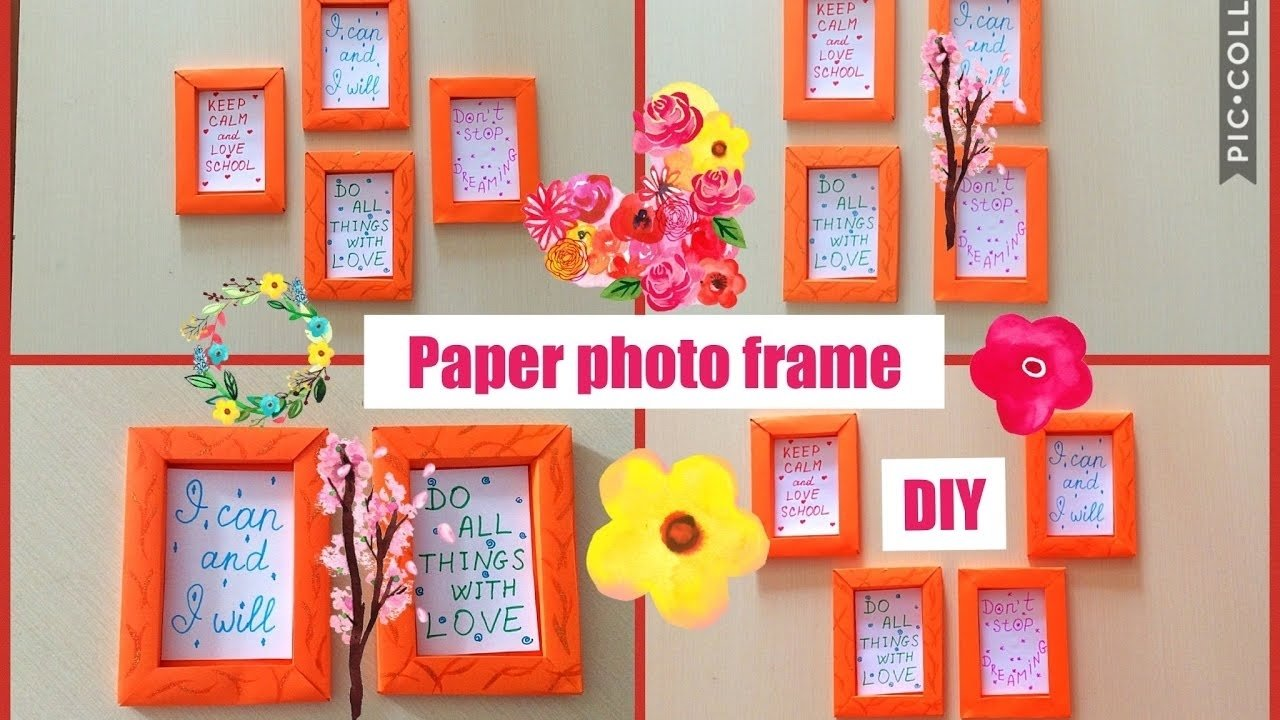 10 Famous Craft Ideas For Picture Frames f09f8f96how to make paper frame f09f8f95 photo frame diy f09f8fa1 wall decoration 2020