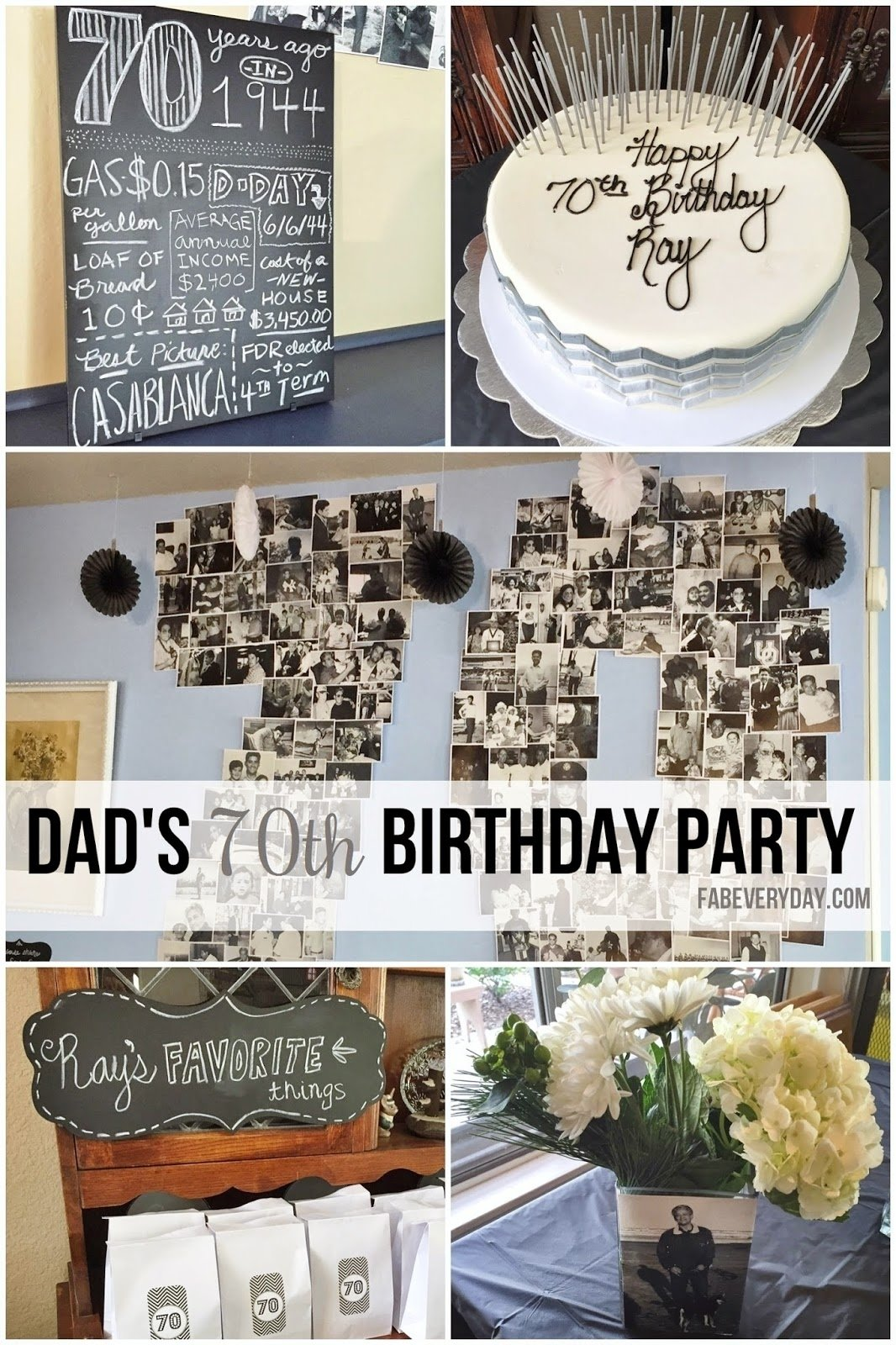 10 Stunning 70 Year Old Birthday Party Ideas fab everyday because everyday life should be fabulous www 2 2020