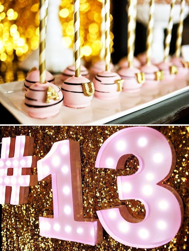 10 Elegant Ideas For A 13Th Birthday Party For A Girl fabulous pink gold glitter teen birthday teen birthday 6 2021